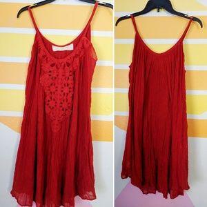 Jen's Pirate Booty Scarlet Red Boho Dress